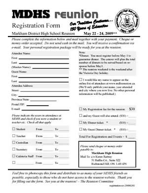 high school registration form template - family reunion registration forms printable